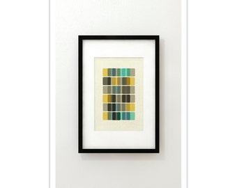 DNA II - Giclee Print - Mid Century Modern Danish Modern Minimalist Cubist Modernist Eames Abstract