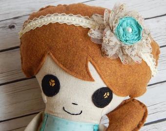 Edith Plush Art Doll Rag Doll