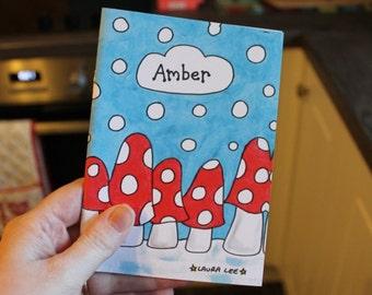 Personalised mushroom note book