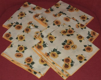 Sunflower Napkins (6)  - Linens - Country - Flowers