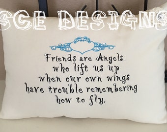 Friends saying pillow. Gift for friend to show appreciation and love. -friendship gift- gift for soecial friends