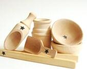 Toddler Gift * Natural Wood Toy *Montessori Materials *Sensory Bin Tool Set- Waldorf Toy- Toddler Toys-