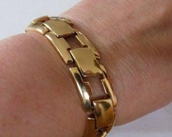 Vintage bracelet, Monet bracelet, gold plated bracelet, designer bracelet, vintage jewelry