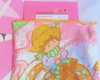 Strawberry Shortcake and her Berry Best friends vintage style cosmetic or pencil bag
