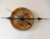 Big Hands Clock, Wall Decor, Figured Spalted Maple, Turned Wood Clock