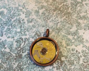 Steampunk Disc Pendant