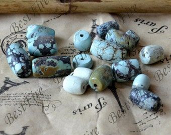 20 beads 8x10-12x16mm Natural old Turquoise nugget loose beads,turquoise nugget gemstone beads,turquoise beads