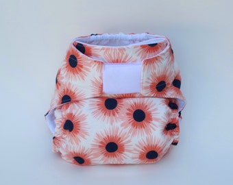 All-in-One Cloth Diaper  Coral Daisies