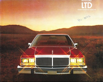 Vintage 1970's Automobile Brochure - 1979 Ford LTD