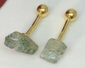 Rough cut aquamarine gemstone cufflinks, blue gemstone cufflinks, gifts for him, wedding cufflink, March birthstone, 430BA SY