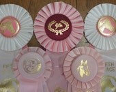 Reserved for Shelby Rosette Horse Prize Ribbons Lot of 5 Ribbons, instant collection, equestrian ribbons, altered art, western decor