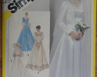 Wedding Dress Pattern Vintage Simplicity 5440 Size 14