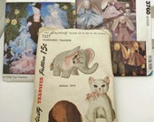 Dog cat Crafts Patterns sewing animals cat dog rabbit elephant mice bride groom wedding clothes toy transfer