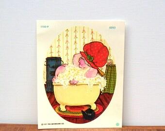 Meyercord Decal Bubble Bath Granny