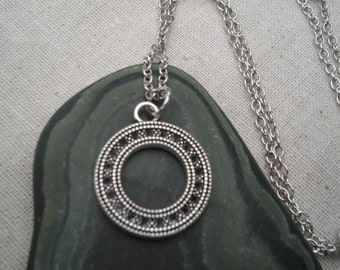 Silver Open Circle Necklace - Boho - Modern - Simple Everyday Silver Jewelry