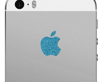 Apple iPhone SE and iPhone 5/5s Apple Logo Decal - Sparkling Turquoise