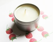Fresh Raspberry Scented Candle - Vegan Candle - Homemade Candles - Natural Candles - Tin Candle - Container Candle