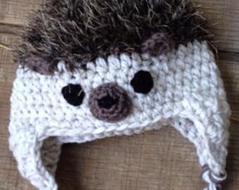 Hedgehog Crochet Hat, Hedgehog Beanie, Child's Hedgehog Hat, Newborn, Baby Toddler Hedgehog hat