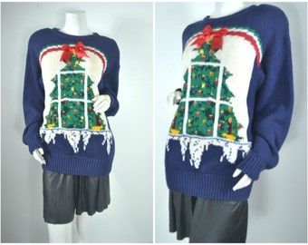 90s 80s novelty ugly christmas sweater