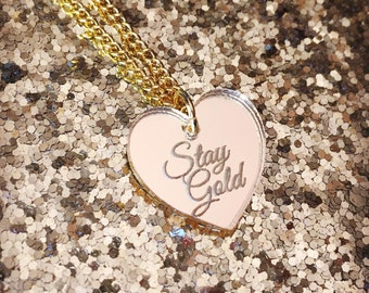 Stay Gold Necklace - Gold Heart