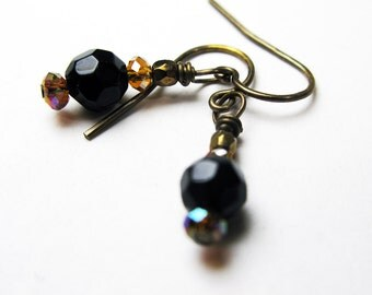 Ebony and Amber Earrings - Wear Casual or Dressy - Ready to Ship