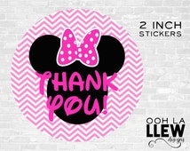 INSTANT DOWNLOAD: Minnie Mouse Party Favor Sticker/Tags