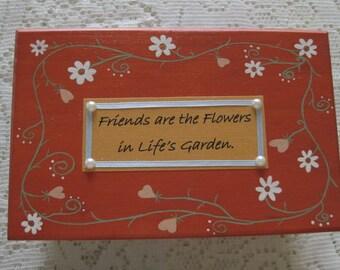 Custom Keepsake Box, Bridesmaid Gift, Wooden Prayer Box, Inspirational Jewelry Box, Friend Gift