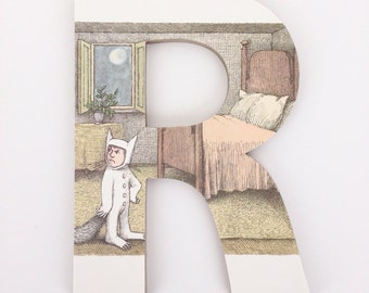 Where the Wild Things Are Custom Letters - Children's Used Book Pages - Nursery Alphabet Décor - Storybook Name Art - Baby Shower