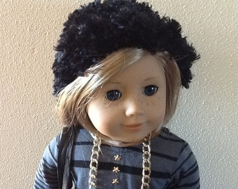 18 Inch Doll Clothes Black and Grey Five Piece Outfit including Pants, Shirt, Purse, Necklace and cap to fit dolls like American Girl