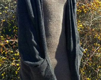Made to order -oversized alpaca or organic merino wool cardigan sweater