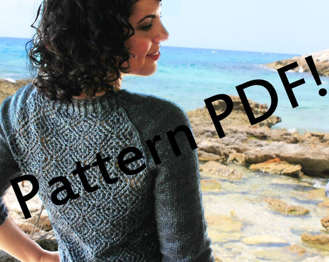 Abisko Pullover: lace hand knit sexy sweater PDF Knitting Pattern by The Sexy Knitter