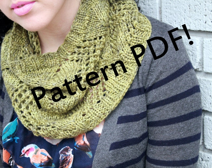 Lonicera Lace Cowl: Multisize PDF Knitting Pattern by TheSexyKnitter