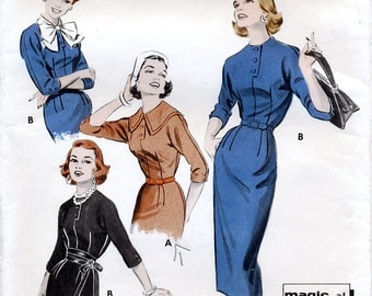Butterick 8321 Vintage 50s Sewing Pattern for Misses' Dress - Size 14 - Bust 34