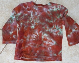 Tie Dye Kid's Long Sleeve Tee upcycled