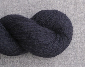 Lace Weight Cashmere Recycled Yarn, Navy Blue, Lot 030216