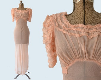 1940s Pink Nightgown size XS