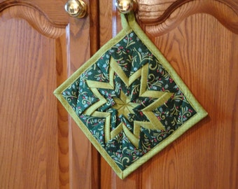 Holiday Folded Star Hot Pad or Trivet-Sale Priced!