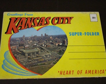 Vintage Kansas City Postcards - Oversized  Postcard book - Kansas City, Missouri