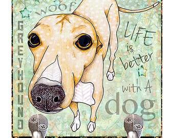 Pop Art Greyhound Leash Hook Pet Leash Hook Dog Leash Collar Hook Organizer Leash Hook Holder