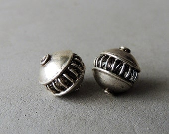 35% OFF SALE Reserved, Silver Spacer Bead, 1 Bead, 10mm By 10mm, Handmade Silver
