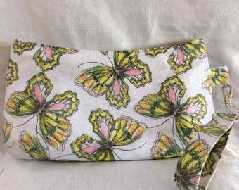 Butterfly Glitter Wristlet