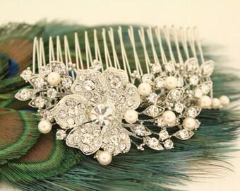 Pearl hair clip,Wedding hair accessories,Wedding hair comb,Bridal hair accessories,Wedding headpiece,Bridal hair jewelry.Wedding hair clip