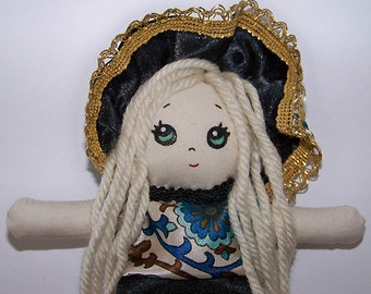 Bunka doll, fabric doll, cloth doll, OOAK doll, hand-made, kawaii - Clearance