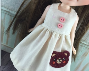 Blythe Dress - Pocket Dress - brown bear