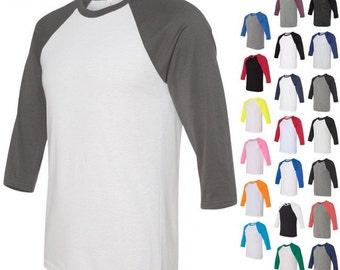 UPGRADE ONLY - Change regular shirt to a Tri-Blend, soft feel baseball style 3/4 sleeve raglan