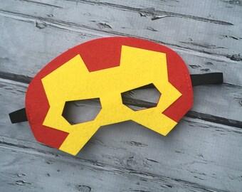 Layered Ironman Felt Mask Ironman Mask Ironman Mask Birthday Mask