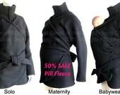 Maternity.Maternity Clothes. Pill Fleece Maternity Coat. Baby Clothes. Babywearing. Baby Wearing. Babywearing Coat.