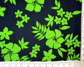 Lycra Fabric Hawaiian Hibiscus Floral Print Lycra Swimwear Dance Wear Fabric Crafts Sewing Y9