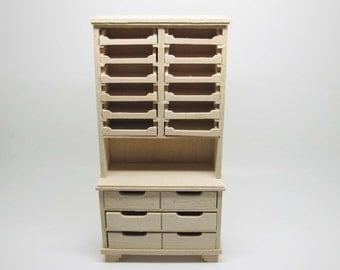 Miniature dollhouse unfinished shelf for shop  - code. VMJ1515