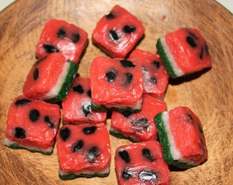 WILD WATERMELON Primitive Grubby Cake Bites Chunks Cube Wax Tarts Melts  Highly Scented